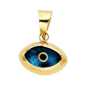 14K Yellow Gold  Evil Eye Pendant